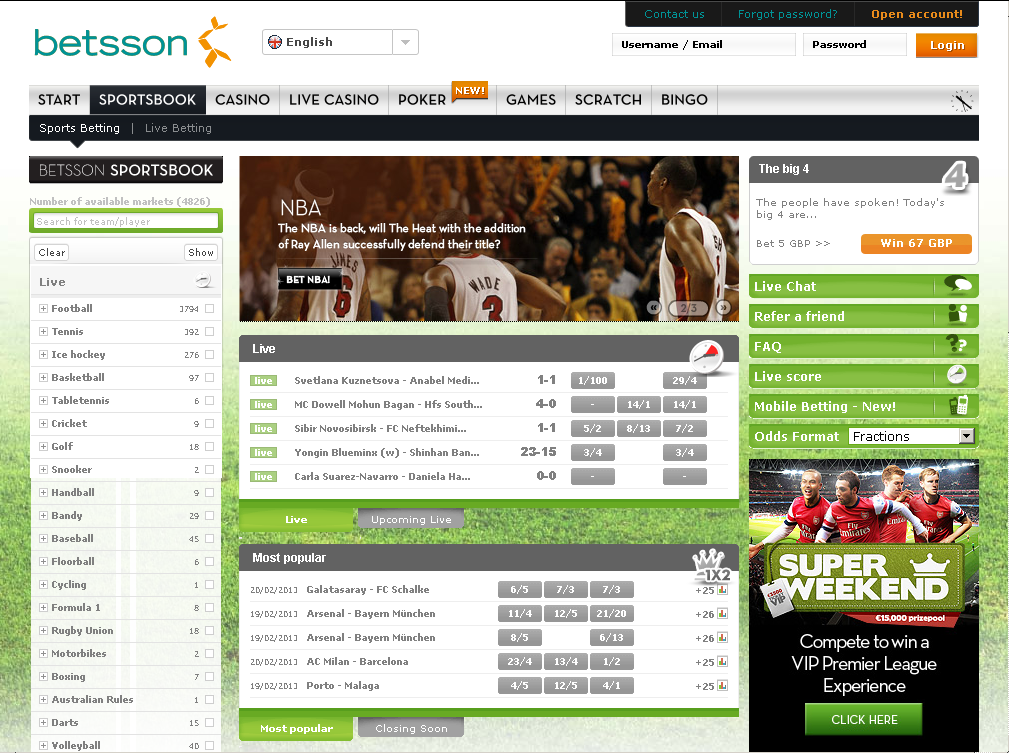 betsson exchange