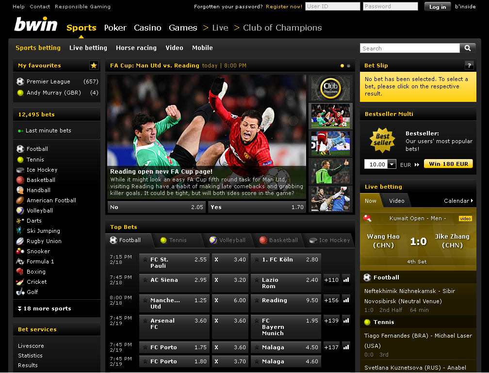 bwin website